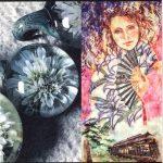 岡崎壮、横山明子合同展『Azalea~ガラスと和紙の花たち~』